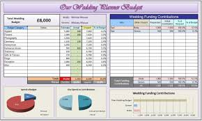 Wedding Planner Organiser Custom Excel Template Saving You