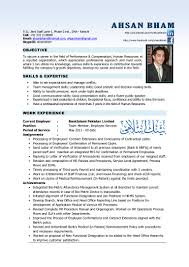 Resume Hr Professional Generalist Objective Statements Ahsancv