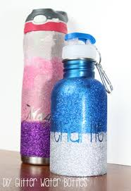 Diy Water Bottle Diy Personalized Glitter Water Bottle Our Piece Of Earthour