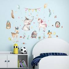 unicorn wall decals girls bedroom background wall stickers children s room nursery room wall decor home decoration