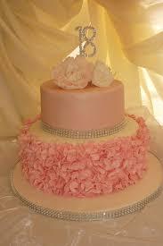 Debut Cake Design Pink 18th Birthday Cake We Made Ruffles And Peonies