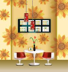 vector stylish wallpaper chandelier home decor