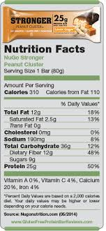 nutrition facts nugo stronger