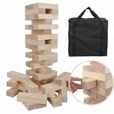Lawn Game With Wooden Blocks Magnificent Wooden Timber Tower Jumbo Blocks Giant Tumbling Tower Lawn Game With