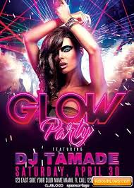 glow flyer glow party club v10 flyer template free download free graphic