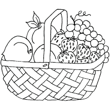 Collection Of Easy Drawing Fruit Basket High Quality Coloring Pages