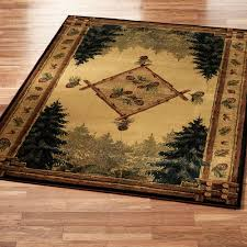 pine cone lodge area rug touch to zoom