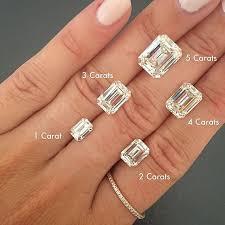 Emerald Cut Diamond Size Chart Pin On Fashion