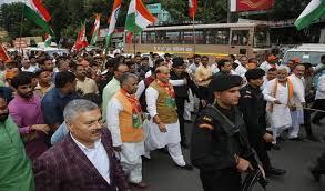 Image result for गाँधी जयंती पर आयोजित यात्राओं के फोटो