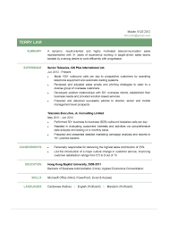Resume Templates 15818 1 Guest Relations Executive Examples The