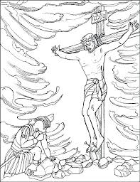Coloring Pages Crucifixion And Resurrection Of Story Christian