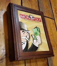 Wooden Monopoly Board Game wooden monopoly game eBay 48