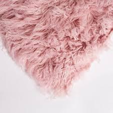 baby pink 5ft flokati rug