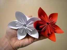 Easy Paper Origami Flower Modular 5 Petal Flower Origami Paper Origami Flowers