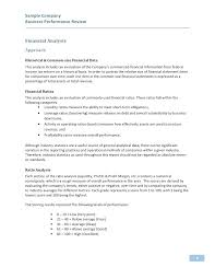 Annual Review Report Template Awesome Sample Business Performance 2 ...