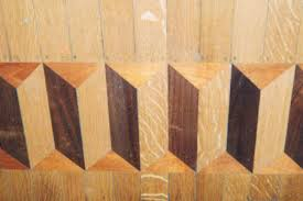 Mosaic tiles wood inlay designs and wood stain patterns in hardwood