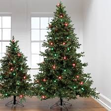 Artificial Christmas Tree With C9 Lights Raz 5 Or 7 5 Red And Green Pre Lit G40 Artificial Christmas Tree