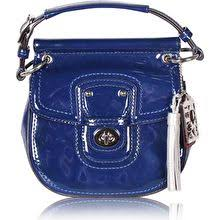 Coach Blue Patent Leather Mini Bag