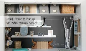 office closets. Closet Office With Extra Storage Space - The Crazy Craft Lady Featured On @Remodelaholic Closets