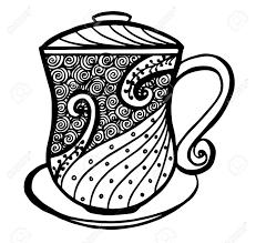 vintage tea cup vector. Simple Vector Hand Drawn Vintage Tea Or Coffee Cup Icon  Vector Illustration Stock Vector  99899215 In Vintage Tea Cup R