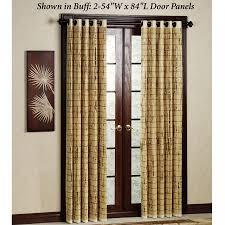 sliding glass door curtains 40 bamboo door panel 54 x 84 palm springs remodel