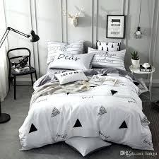 king duvet size twin queen king size s kids bed set cotton cartoon white grey blue king duvet size