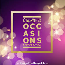 Purple Christmas Card Purple Virtual Background Christmas Card Vector Free Download