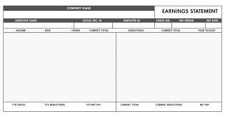 Pay Stub Templates Excel Free Basic Paystub Template Excel Download Paystub Templates