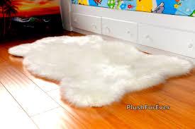 fake bear skin rug faux fur area rug ivory fake sheepskin blanket