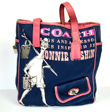 coupon for coach poppy turnlock medium navy totes ca789 06496