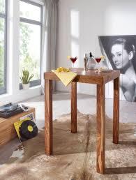 Finebuy Bartisch Massivholz Sheesham 80 X 80 X 110 Cm Bistro Tisch