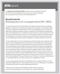 Advertisement Services Resources Eth Zurich