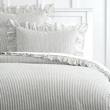 uk gray pinstripe duvet covers grey rugby stripe duvet cover the emily meritt ruffle stripe duvet cover sham grey stripe double