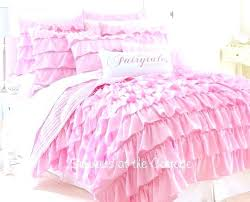pink quilt set pink bed spread pink layered ruffle quilt set pink ruffled bedding pink single