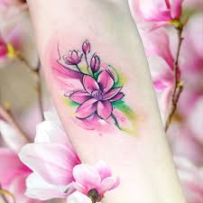 Tattoo Uploaded By Claire By Adrianbascur Watercolor Magnolia