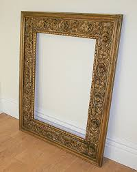 Antique mirror frame Transparent Large Antique Style Carved Ornate Vintage Gilt Wood Mirror Frame 4ft 5ft Eron Johnson Antiques Large Antique Style Carved Ornate Vintage Gilt Wood Mirror Frame
