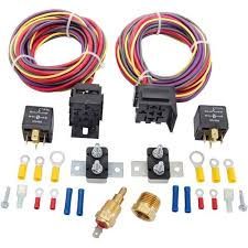 jegs 10571 dual fan wiring harness relay kit 30 amp jegs jegs 10571