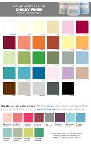 Americana Chalk Paint Color Chart Decoart Americana Chalk Paint Colors Americana Chalk Paint