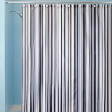 traditional striped shower curtain of black and white affordable modern home