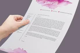 Watercolor Resume Template Resume Templates On Thehungryjpeg Com