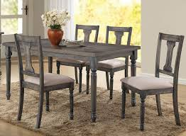 olivia weathered grey finish table set in gray dining decor 9
