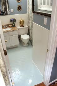 painting old bathroom tile floor ideas