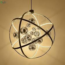 nordic globe metal led pendant chandeliers lighting re chrome glass ball dining room led chandeliers lamp hanging lights rope chandelier gold chandelier