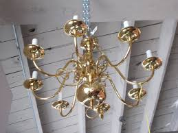 brass 8 candle chandelier