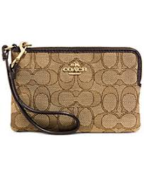 COACH Corner Zip Wallet in Signature Fabric