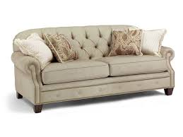 Button Couch Flexsteel Champion Transitional Button Tufted Sofa With Rolled