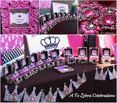 Leopard Print Party Decorations Similiar Zebra Princess Party Decorations Keywords