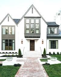 Brick House Exterior White Painted Brick House White Painted Brick House  Exterior Paint Colors For Stucco