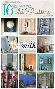 great ideas for old shutters on hometalk curated by cottage in the oaks