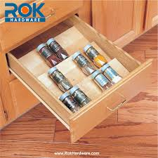 Kitchen Spice Organization Cut To Size Insert Wood Spice Organizer For Drawers